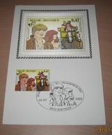Carte En Soie (in Zijde) B.D. - Bakelandt - Timbre N°3095 - FDC - 2002 - Oblitération Bruxelles-Brussel - Maximum Cards