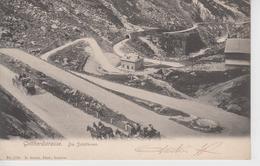 CPA Précurseur Gotthardstrasse - Die Schöllenen (avec Attelages) - UR Uri