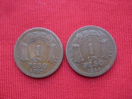 Chile 1 Peso 1946. 1947  Km 179 - Chile