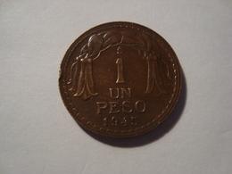 MONNAIE CHILI 1 PESO 1945 - Chile