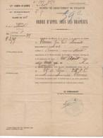 525  ORDRE D APPEL SOUS LES DRAPEAUX   RECRUTEMENT DE TOULOUSE FROUZINS 20 AOÛT 1877 Classe 1870 - Decrees & Laws