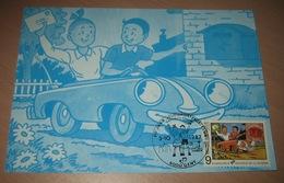Carte Maximum B.D. - Bob & Bobette / Suske En Wiske - Timbre N°2264 - FDC 1987 - Oblitération à Gand (Gent) - Maximumkarten (MC)
