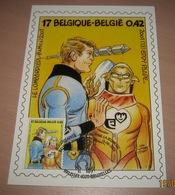 Carte Maximum B.D. - Luc Orient - Timbre N°3010 - FDC 2001 - Oblitération à Bruxelles ( Te 1020 Brussel) - Maximumkarten (MC)
