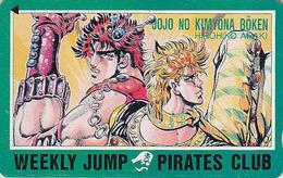 Télécarte Japon / 110-011 - MANGA - WEEKLY JUMP PIRATES CLUB  - JOJO By HIROHIKO ARAKI -  ANIME Japan Phonecard - 11880 - Comics