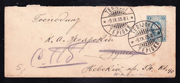 PST-50 COVER OF LETTER FROM TERIOKI TO SPB. - 1857-1916 Imperio
