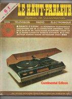 Le Haut-Parleur N°1581 Banc D'essai Le Répondeur Téléphonique Discophone 380 - Le Radio-cassette Sankyo STR 500 FL - Audio-Visual