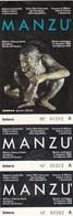 BIGLIETTO D INGRESSO-  MANZU IN PALAZZO REALE DI MILANO- - Toegangskaarten
