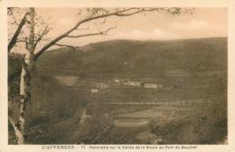PUY DE DOME AUVERGNE PANORAMA SUR VALLEE DE LA SIOULE AU PONT DU BOUCHET (scan Recto-verso) KEVREN0331 - Auvergne Types D'Auvergne