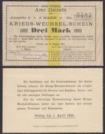 Datteln Westfalen 3 Mark Kriegs-Wechsel-Schein 1914  (25929 - Zonder Classificatie
