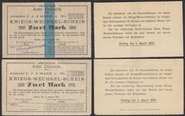 Datteln Westfalen 2 Stück á 2 Mark Kriegs-Wechsel-Schein 1914  (25932 - Unclassified