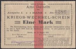 Datteln Westfalen 1 Mark Kriegs-Wechsel-Schein 1914  (25931 - Zonder Classificatie