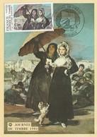 """FDC Sur Carte De """"Périgueux - 24, Dordogne"""" Du 07-03-1981, """"Journée Du Timbre"""" La Lettre D'amour De Goya - FDC"""