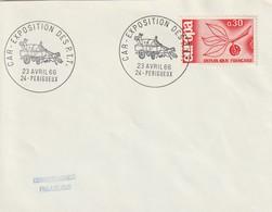 """OT Sur Env. : """"Car-exposition Des PTT"""", (Périgueux En Dordogne-Périgord) Du 24-04-1966 (voiture Attelée) - Marcophilie (Lettres)"""