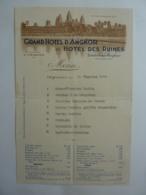 CAMBODGE SIEMREAP GRAND HOTEL D'ANGKOR Et HOTEL DES RUINES 1934    JAN 2020 GERA  ALB - Menus