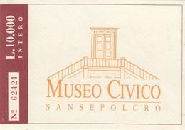 BIGLIETTO D INGRESSO- MUSEO CIVICO -SANSEPOLCRO- - Toegangskaarten