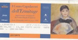 BIGLIETTO D INGRESSO- I CENTO CAPOLAVORI DELL ERMITAGE - ROMA - - Toegangskaarten
