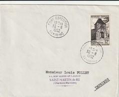 """OT Sur Env. : """"Foire Exposition"""", (Ribérac En Dordogne-Périgord) Du 30-08-1952 - Marcophilie (Lettres)"""