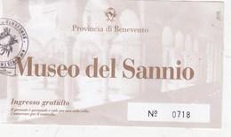 BIGLIETTO D INGRESSO- MUSEO DEL SANNIO- BENEVENTO- - Toegangskaarten