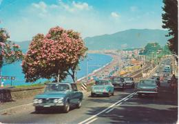 CAVI DI LAVAGNA - VIA AURELIA - AUTO D'EPOCA CARS VOITURES: ALFA ROMEO SIMCA - VIAGGIATA 1975 - Altre Città