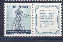 SAO TOME & PRINCIPE,  St. Thomas & Prince  1951 FATIMA  MNH - St. Thomas & Prince