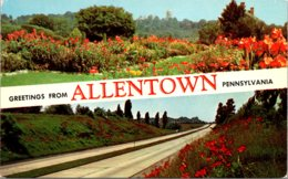 Pennsylvania Allentown Greetings Showing Rose Gardens And State Highway - United States