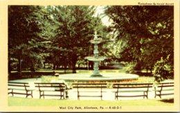 Pennsylvania Allentown Fountain In West City Park Dexter Press - United States