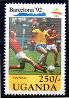 OUGANDA    N° 744 * *    JO 1992   Football  Soccer Fussball - Soccer