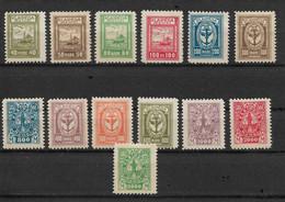 Memel 1923 Under Lithuanian Occupation 5 Stamps Scott # N31- N35, VF MLH / Mint Hinged* (OLG-1) - Lithuania