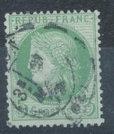 N°53 CACHET A DAYTE BELLE FRAPPE. - 1871-1875 Ceres