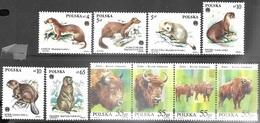 Poland     1984   Sc#2650-55 Protected Animals Set & #3327a Bison Strip/set  MNH   2016 Scott Value $4.75 - Unused Stamps