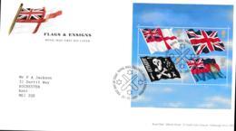 Great Britain FDC 2001 Flags & Ensigns Souvenir Sheet - Tallents House   (NB**LAR9-7) - Buste