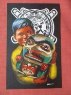 Signed Artist----------Pacific Northwest & Alaska Indians  Linen Type Ref 3843 - Indiaans (Noord-Amerikaans)