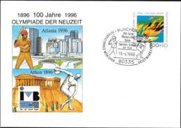 Germany Cover München 1996 100 Jahre Olympische Spiele Der Neuzeit - IVB 1996 (G108-43) - Otros