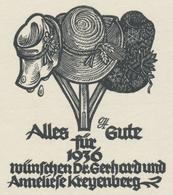 Neujahrskarte  Nieuwjaarskaart 1936 Dr. Gerhard Und Anneliese Kreyenberg -  - Estampes & Gravures