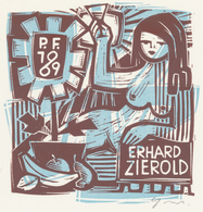 Neujahrskarte  Nieuwjaarskaart 1969 Erhard Zierold (1920-2005) - Prenten & Gravure