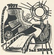 Neujahrskarte  Nieuwjaarskaart 1971 Erhard Zierold (1920-2005) - Prenten & Gravure