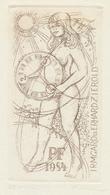 Neujahrskarte  Nieuwjaarskaart 1984 Erhard Zierold (1920-2005) - Prenten & Gravure