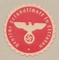 Siegelmarke Deutsche Gesandtschaft In Lissabon NSDAP - Reliëfdruk - Estampes & Gravures