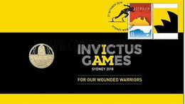 Invictus Games  • 2018 • Stamp And $1 Coin Cover - Australie