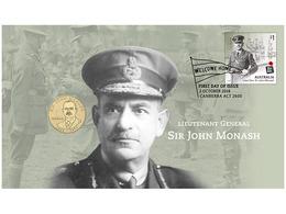 Lieutenant General Sir John Monash  • 2018 • Stamp And $1 Coin Cover - Australie