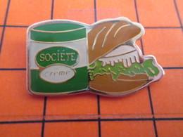 2719 Pin's Pins / Beau Et Rare  / THEME ALIMENTATION / SANDWICH AU ROQUEFORT SOCIETE - Lebensmittel
