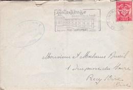 LAC De Contrexéville (88) Pour Précy-sur-Oise (60) - 3 Octobre 1962 - CAD Rond Type 04 - Base Aérienne 902 - Marcofilie (Brieven)