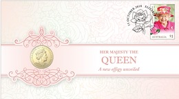 Her Majesty The Queen A New Effigy  • 2018 • Stamp And $1 Coin Cover - Australie