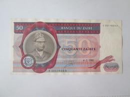 Rare! Zaire 50 Zaires 1980 Large Banknote:190 X 94 Mm - Zaïre