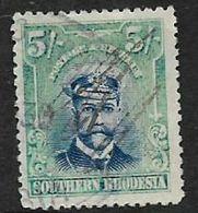 Rhodesia  GVR, Admiral, 1924, 5/=, Used Fiscally, - Rhodesia Del Sud (...-1964)