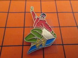 2719 Pin's Pins / Beau Et Rare  / THEME SPORTS / SURFEUR DES NEIGES - Wintersport
