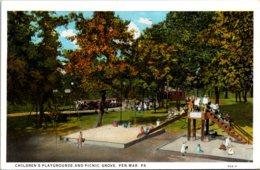 Pennsylvania Pen Mar Children's Playground And Picnic Grove Curteich - United States
