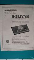 Ancienne Pub Chocolat Guérin-Boutron,Bolivar - Publicités