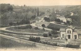 FORT DE CARHAIX LA GARE ET LE CANAL DE NANTES A BREST AVEC LE TRAIN - Carhaix-Plouguer