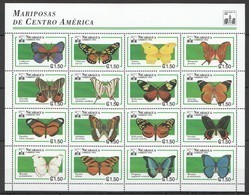 PK296 1994 NICARAGUA FAUNA BUTTERFLIES MARIPOSAS CENTRAL AMERICA 1SH MNH - Schmetterlinge